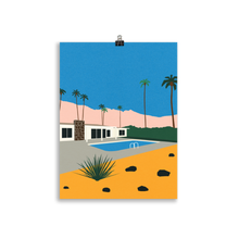Load image into Gallery viewer, Poster Art Print Illustration – Palm Springs Bungalow