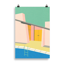 Load image into Gallery viewer, Poster Art Print Illustration – Mid Century Pool House