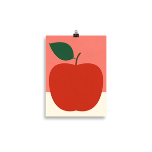 Poster Art Print Illustration – Red Apple