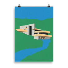 Load image into Gallery viewer, Poster Art Print Illustration – Frank Lloyd Wright Falling Water