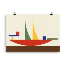 Load image into Gallery viewer, Poster Art Print Illustration – Bauhaus Bauspiel Toy Alma Buscher