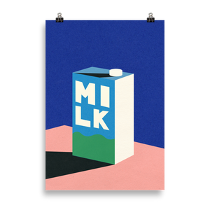 Poster Art Print Illustration – MILK