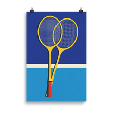 Load image into Gallery viewer, Poster Art Print Illustration – Wooden Badminton Rackets
