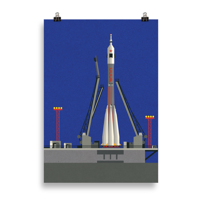 Poster Art Print Illustration – Sojus-U 31 Baikonur
