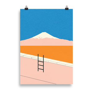 Poster Art Print Illustration – Fuji Pool
