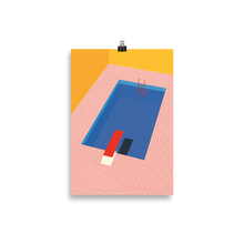 Load image into Gallery viewer, Poster Art Print Illustration – Backyard Pool