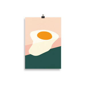 Poster Art Print Illustration – Fried Egg On The Edge