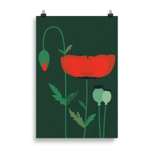 Load image into Gallery viewer, Poster Art Print Illustration – Red Poppy
