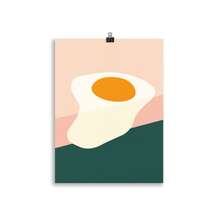 Load image into Gallery viewer, Poster Art Print Illustration – Fried Egg On The Edge