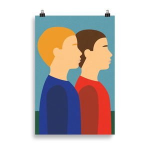 Poster Art Print Illustration – Two Brothers
