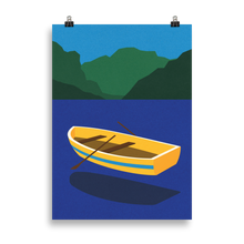 Load image into Gallery viewer, Poster Art Print Illustration – Boat On The Mountain Lake