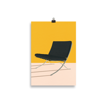 Load image into Gallery viewer, Poster Art Print Illustration – Mies van der Rohe Barcelona Chair