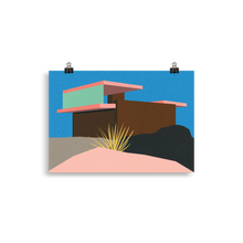 Load image into Gallery viewer, Poster Art Print Illustration – Kaufmann Desert House Palm Springs