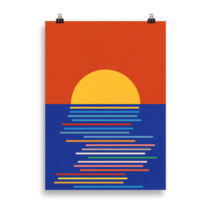 Poster Art Print Illustration – Sunset Sicily