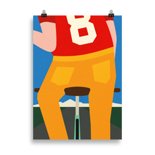 Load image into Gallery viewer, Poster Art Print Illustration – No 8 On A Bike