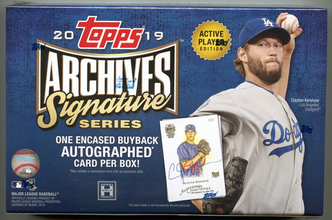 2019 Topps Archives Signature Series Active Edition Baseball Box (1 Auto)