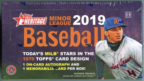 2019 Topps Heritage Minor League Baseball Hobby Box