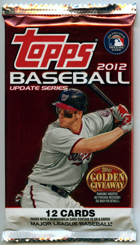 2012 Topps Update Gravity Feed Pack