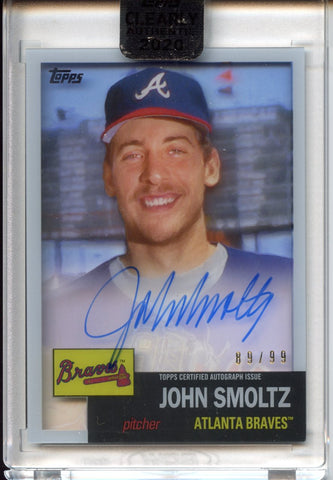 2020 Topps Clearly Authentic John Smoltz Auto Braves #89/99 (Seller: DW)
