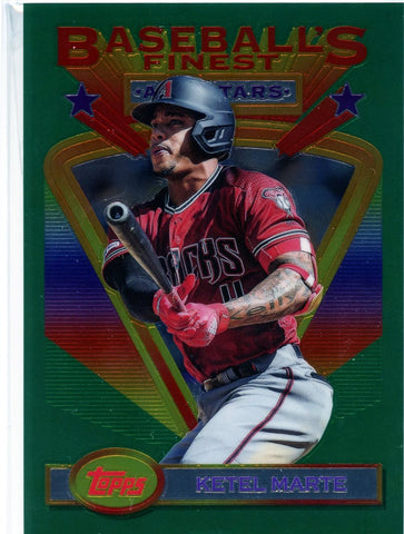 2020 Topps Finest Flashbacks Jumbo Box Topper Ketel Marte #88 (Seller: CY)