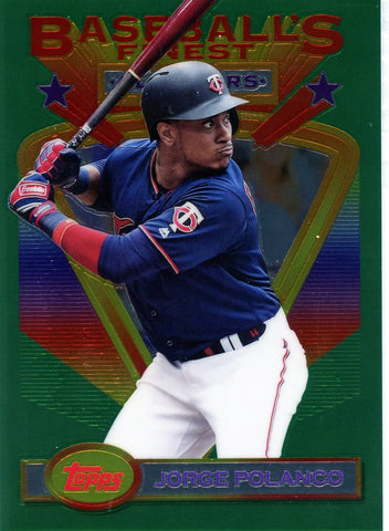 2020 Topps Finest Flashbacks Jumbo Box Topper Jorge Polanco #110 (Seller: CY)