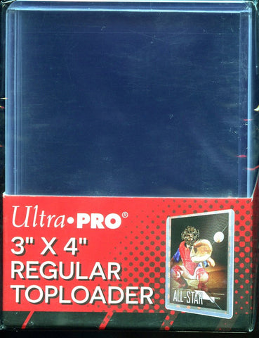 "Ultra Pro Clear Regular 3""x 4"" Toploader 25ct Pack"