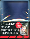 "Ultra Pro Super Thick 120PT 3""x 4"" Toploader 10ct Pack"