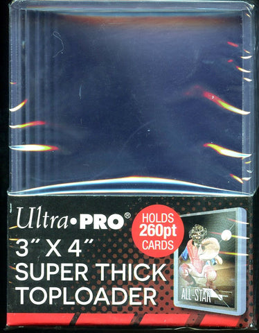 "Ultra Pro Super Thick 260PT 3""x 4"" Toploader 10ct Pack"