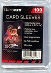 "Ultra Pro Standard Soft Card Sleeves 2-1/2"" x 3-1/2"" 100ct Pack"