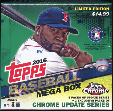 2016 Topps Update Baseball Mega Box With Chrome