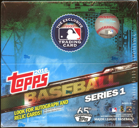 2016 Topps Series 1 Baseball Retail Box