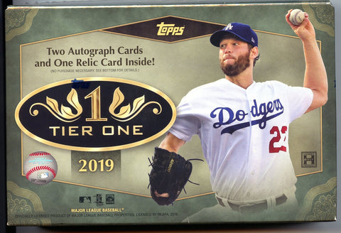 2019 Topps Tier One Hobby Baseball Box