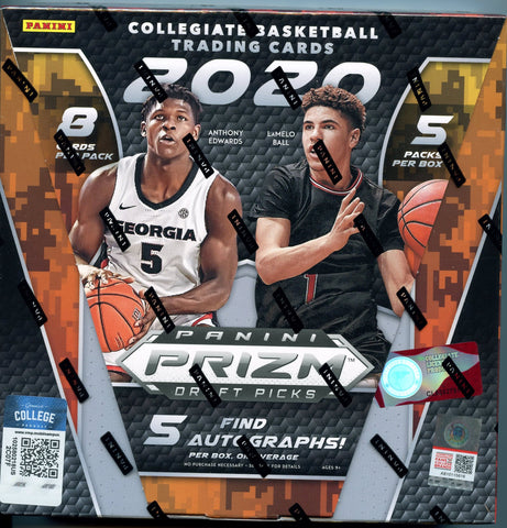 2020/21 Panini Prizm Draft Picks Collegiate Basketball Hobby Box