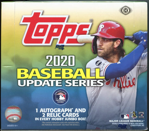 2020 Topps Update Baseball Jumbo Box