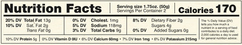Chocolate Chip Big Bite Nutritional Information