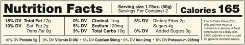 Double Chocolate Chip Big Bite Nutritional Information