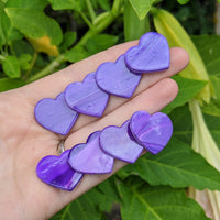 Purple Marbled Studs