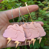 Orange Pink Storm Cloud Hoops