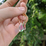 Teeny Tiny Teardrop Hoops