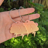 Peach Storm Cloud Hoops