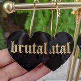 Brutal Heart Hoops - Black