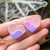 Mountain Sky Heart Studs