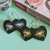 Crybaby Heart Hoops - Black