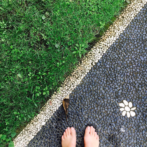 Feet firmly on the ground