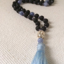 Pale Blue Angel Mala Necklace (Angelite Stones)