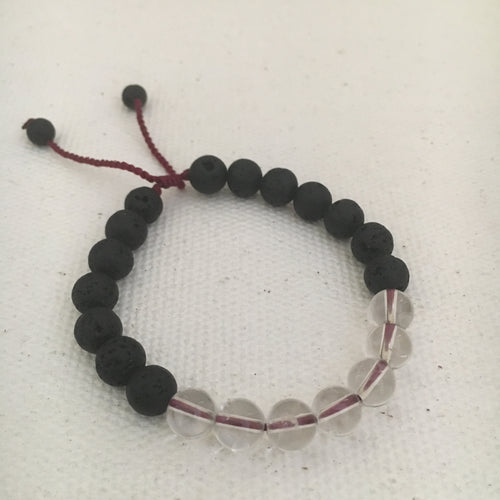 Darkness into Light Bracelet  Clear and Lava Stones (7)