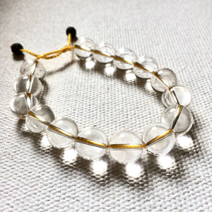 Chakra Light Clear Quartz Bracelet - Yellow