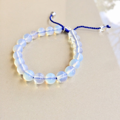 Blue Moonstone Bracelet with 8mm stones