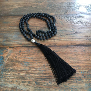 Ground Me Mala - Onyx or Black Tourmaline