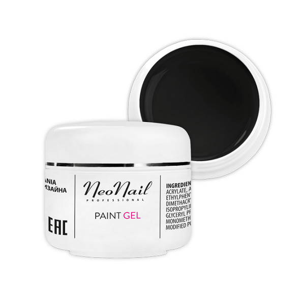 Paint UV / LED Gel 4512 - Black Pearl